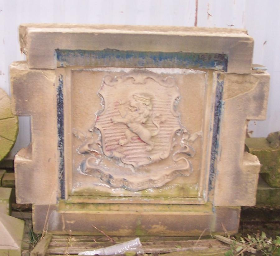 For sale reclaimed handcarved yorkshire stone coat of arms