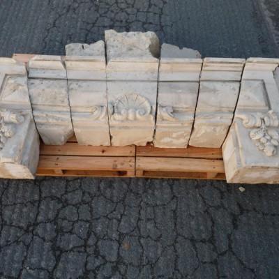 linteau en pierre calcaire - French chateau limestone lintels