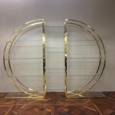 Mid-Century Brass Etagere Unit