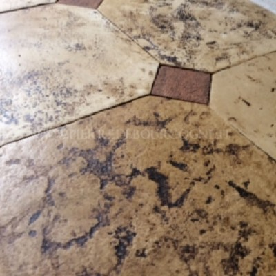 Recycled Cabochons floor