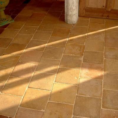 Carrelage terre-cuite 20X20 jaune / Antique terra cotta tiles