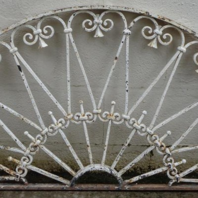 19th century wrought iron fanlight.
