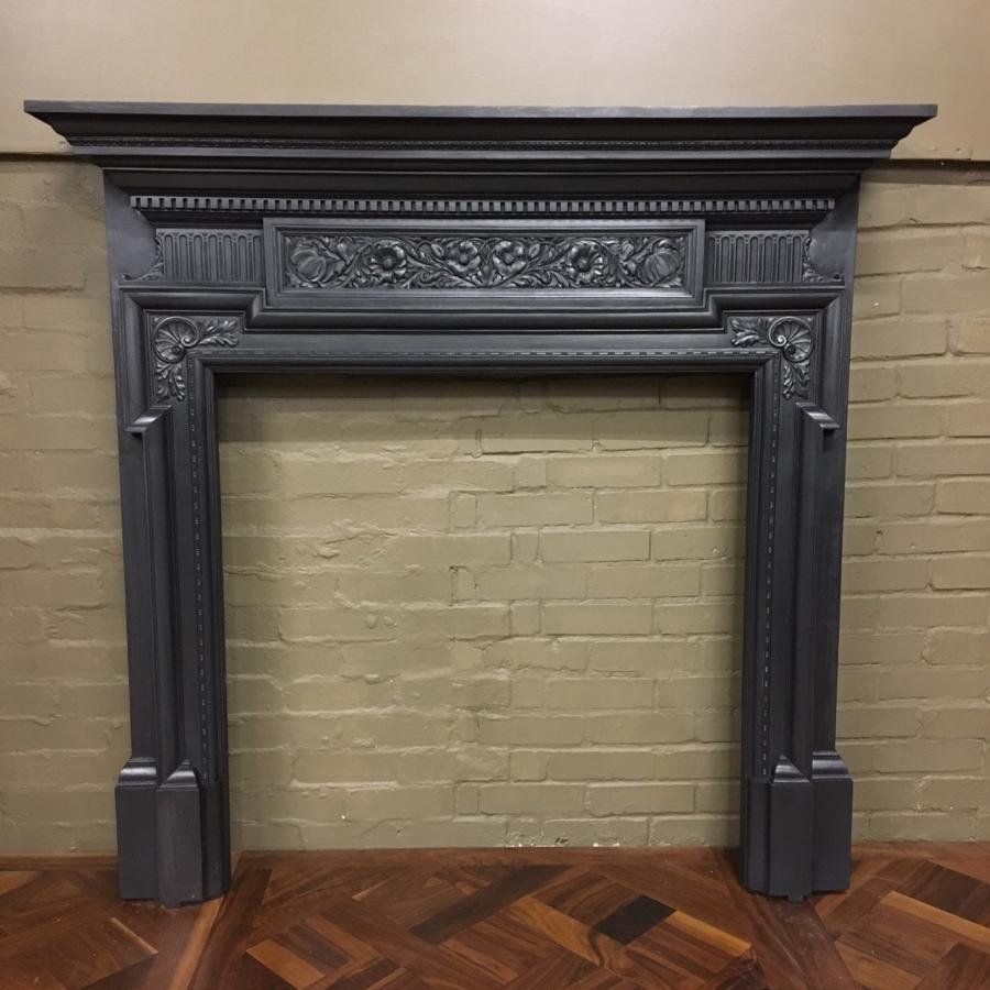 for sale antique coalbrookdale cast iron fireplace surround salvoweb uk rh salvoweb com Arch Fireplace Surround Antique Cast Iron Cast Iron Fireplace Inserts