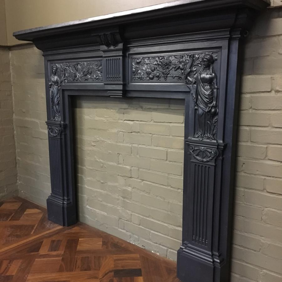 for sale antique victorian cast iron fireplace surround salvoweb uk rh salvoweb com Arch Fireplace Surround Antique Cast Iron Antique Cast Iron Fireplace Surround