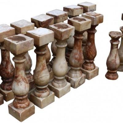 Set Of Twelve 19th Century English Alabaster Balusters