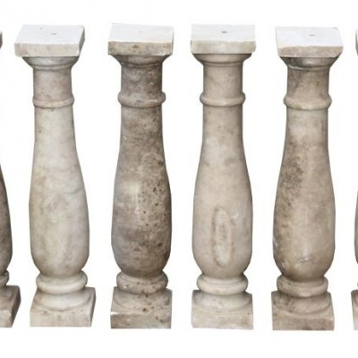 Set Of Eight 19th Century English Carrara Marble Balusters