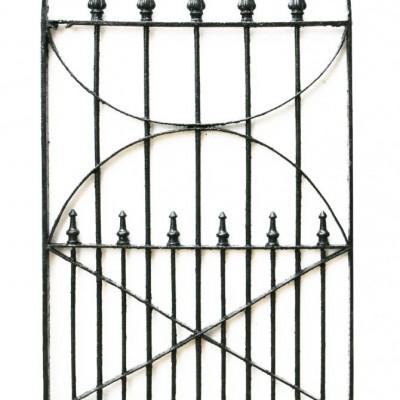 19th Century Wrought Iron Pedestrian Gate