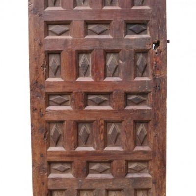Late 18th Century Continental Pine And Walnut Feature Door