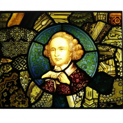 19th Century English Hand Painted Stained Glass