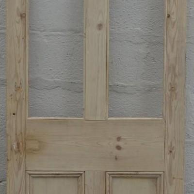Victorian half glazed pine door