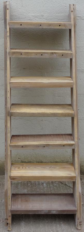 Reclaimed pine & hardwood staircase.