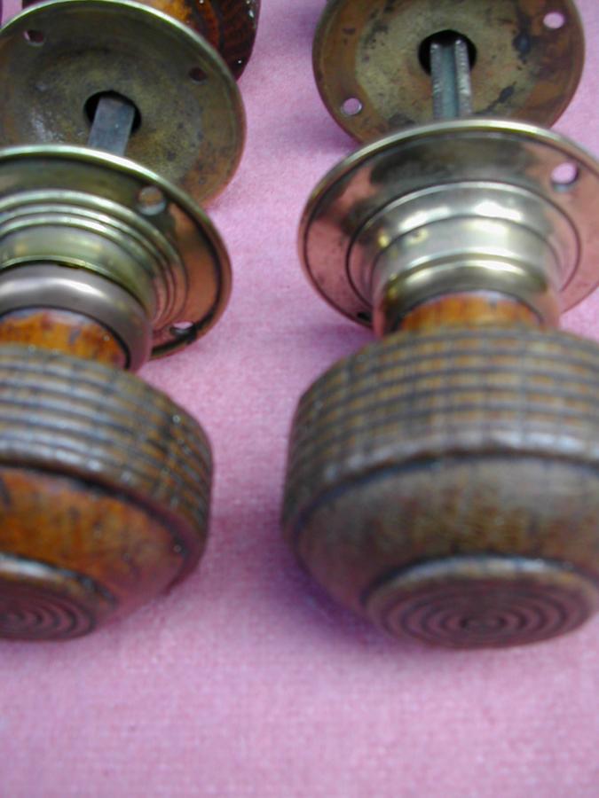 Oak doorknobs