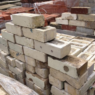 Reclaimed White Glazed Bricks