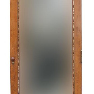 Oak Mirrored Interior/wardrobe Door Circa 1900