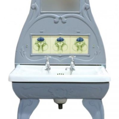 Art Nouveau Cast Iron Washstand