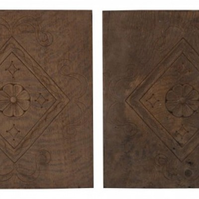 Pair Of 18th Century Carved Oak Panels