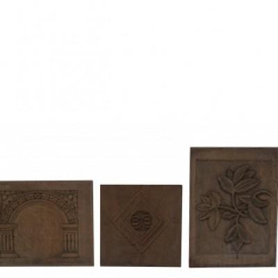 Selection Of 10 Antique Oak Panels