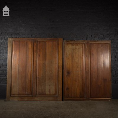Two Pieces of 19th C Fruitwood Panelling
