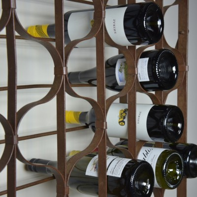 antique wrought iron wine racks- 600 bottles