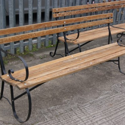 Victorian wrought iron benches