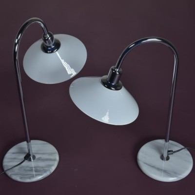 pair vintage swiss table lamps