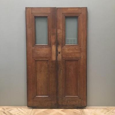 Oak Copper Light Double Doors 196cm x 117cm