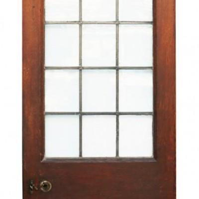 Antique Edwardian Arched Oak Exterior Doors C.1900