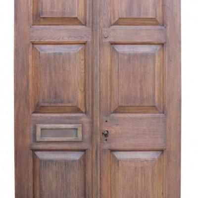Pair Of Solid Oak Exterior Double Doors