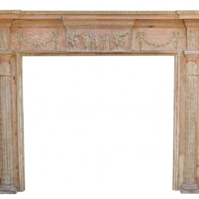 Late Georgian Pine And Gesso Fire Surround