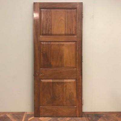 Early C20th Three Panel Door - 210cm x 81.5cm x 4.5cm