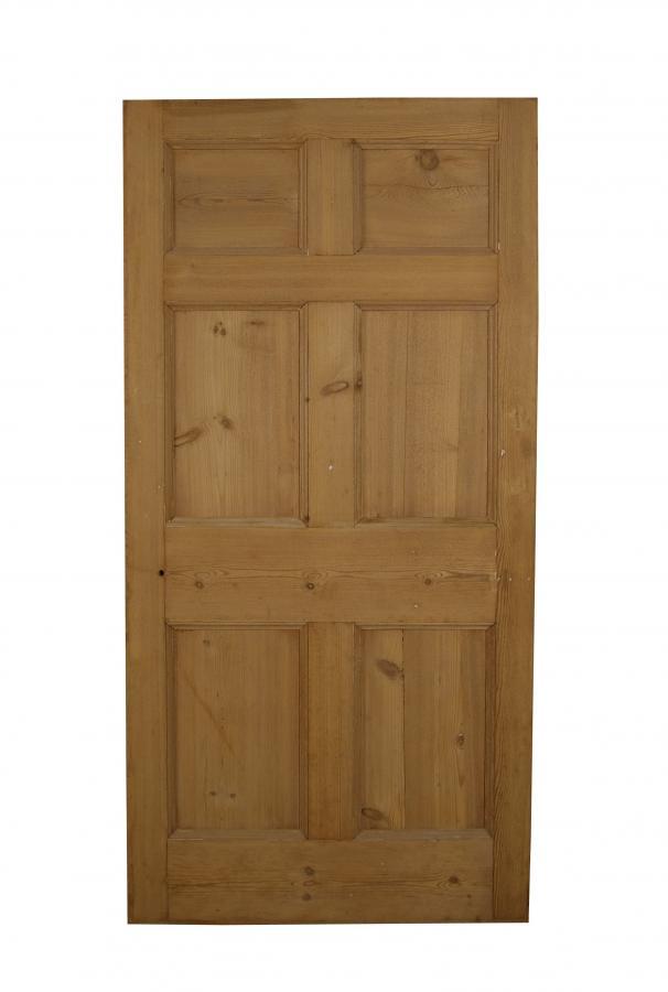 A Georgian six panel pine door