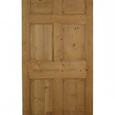 A Georgian six panel pine door
