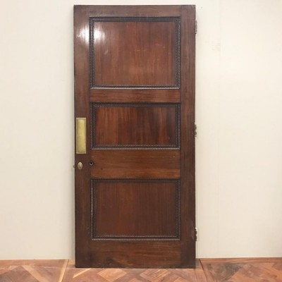 Early 20t Century Three Panel Door - 210cm x 90cm x 4.5cm