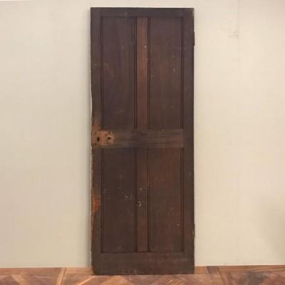 Victorian Teak Four Panel Door - 197cm x 68cm x 3.5cm