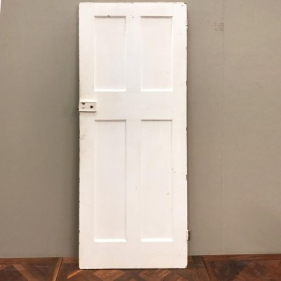 Reclaimed Victorian Four Panel Door - 192cm x 75cm x 3.5cm