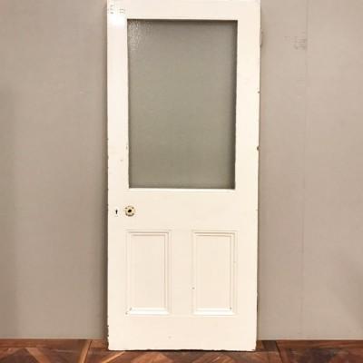 Reclaimed Victorian Two Panel Door - 201cm x 80cm