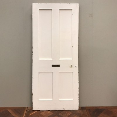 Reclaimed Victorian Four Panel Door - 200cm x 80cm x 5cm