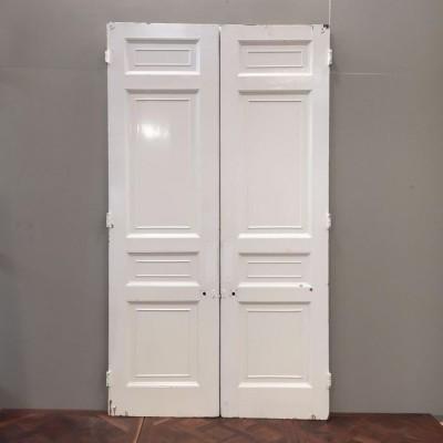Victorian Eight Panel Pine Double Doors - 150cm x 273cm x 5.5cm