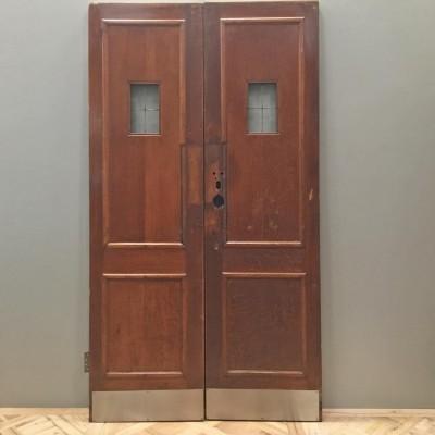 Oak Copper Light Double Doors - 120cm x 212cm
