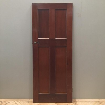 Reclaimed Mahogany Art Deco Door - 200cm x 81cm