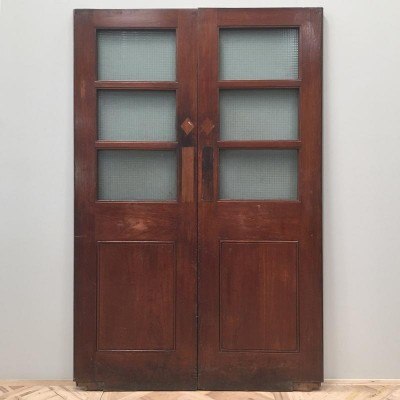 Teak Copper Light Double Doors - 138cm x 210cm