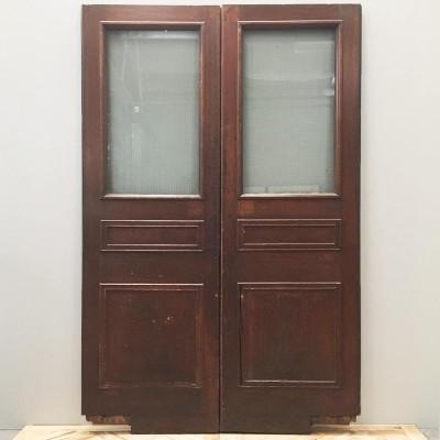 Oak Three Panel Double Doors - 137cm x 212cm