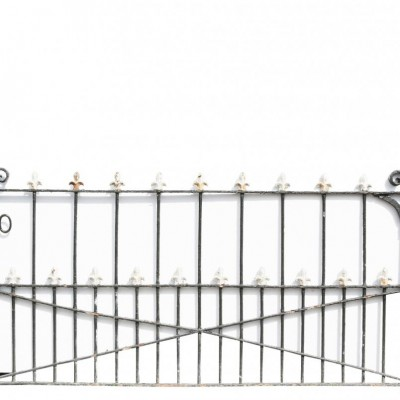 Antique Pair Of Wrought Iron Pedestrian Gates