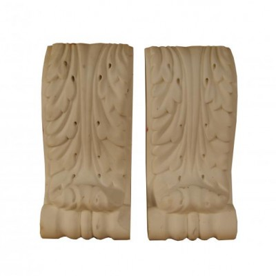 A pair of 19th century carved Statuary marble corbels