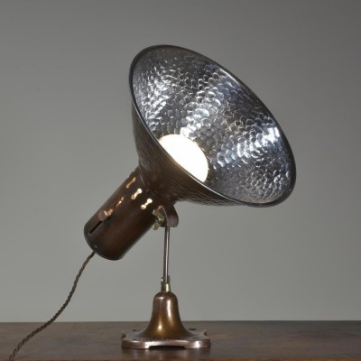 antique simplex shopfitting wall or table lamp