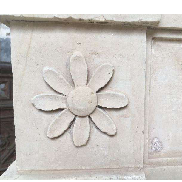 Antique French Stone Louis XVI Fireplace