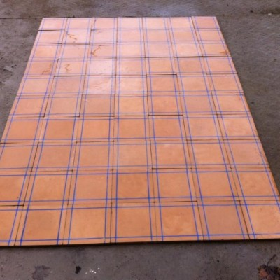 Reclaimed cement floor tiles - large quantity