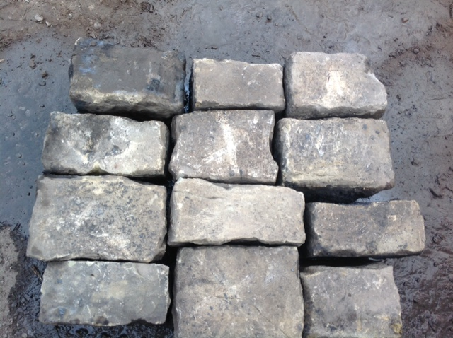 Reclaimed random York Stone Setts