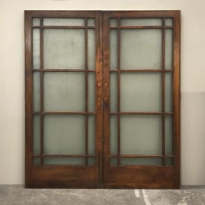 Teak Glazed Double Doors - 202cm x 229cm