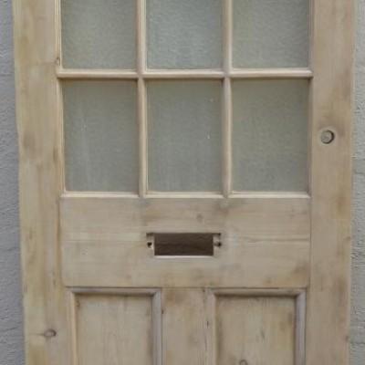 1930s pine front door.